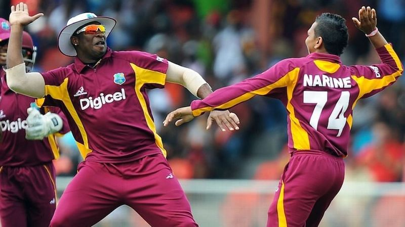 Image result for pollard and sunil narine