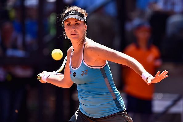 Belinda Bencic overcame an early deficit against Anastasija Sevastova to win at the Internazionali BNL d