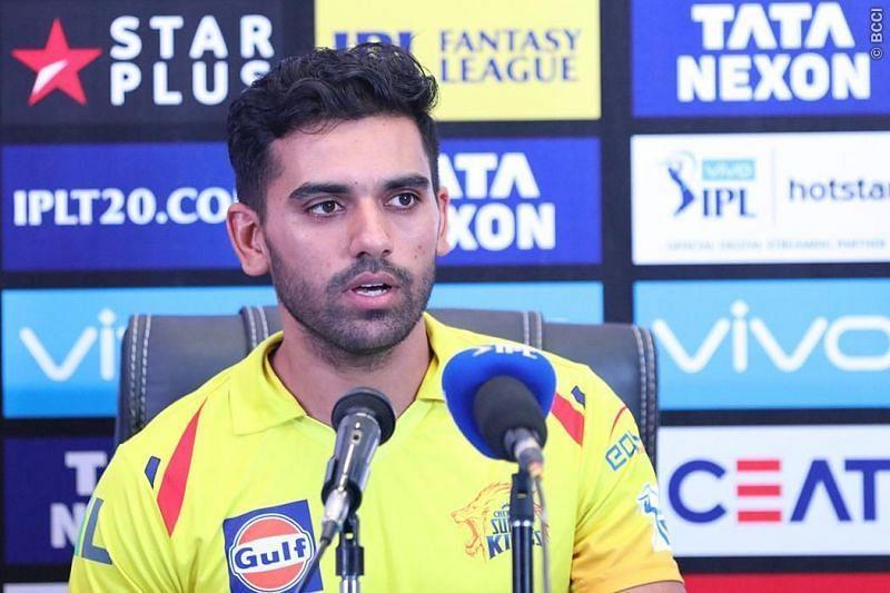 Deepak Chahar was the lead bowler for Chennai Super Kings (Image Courtesy - BCCI/IPLT20.com)