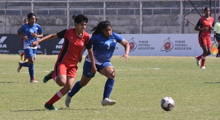 Samiksha scored for Alakhpura against Hans Women