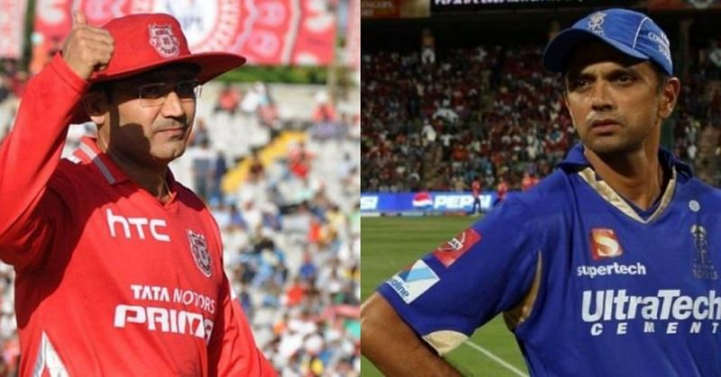 Virender Sehwag and Rahul Dravid (Image courtesy - IPLT20/BCCI)