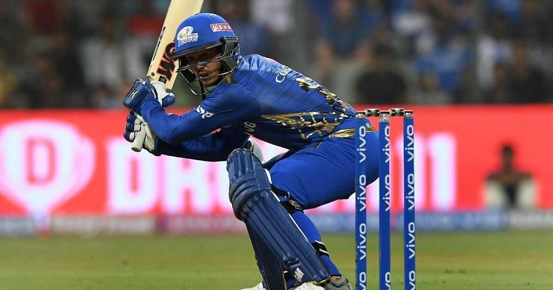 Quinton de Kock with a classy 81 against the Rajasthan Royals being his highest score
