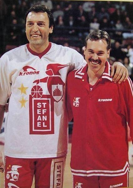 Dino Meneghin and Mike D