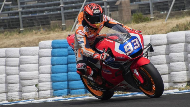 Marc Marquez in action