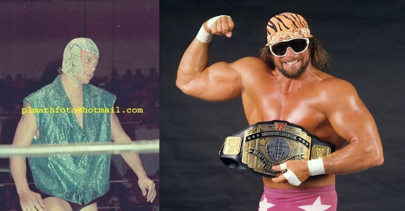 Rnady Savage as The Spider and the Macho Man