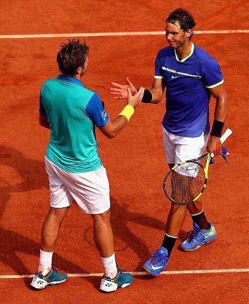 2017 French Open - Rafael Nadal and Stan Wawrinka