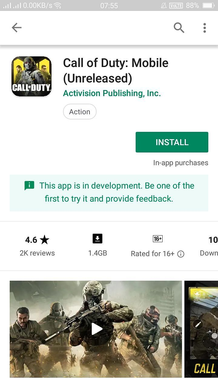 Call of Duty: Legends of War Play Store Install