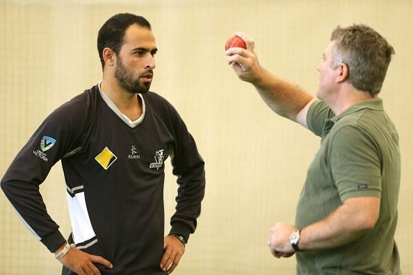 MacGill with Fawad Ahmed