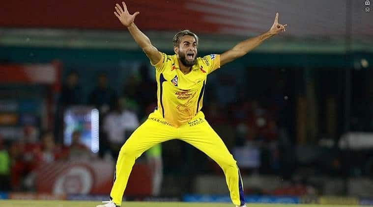 Tahir who bowled an amazing spell of 4/12 against SRH