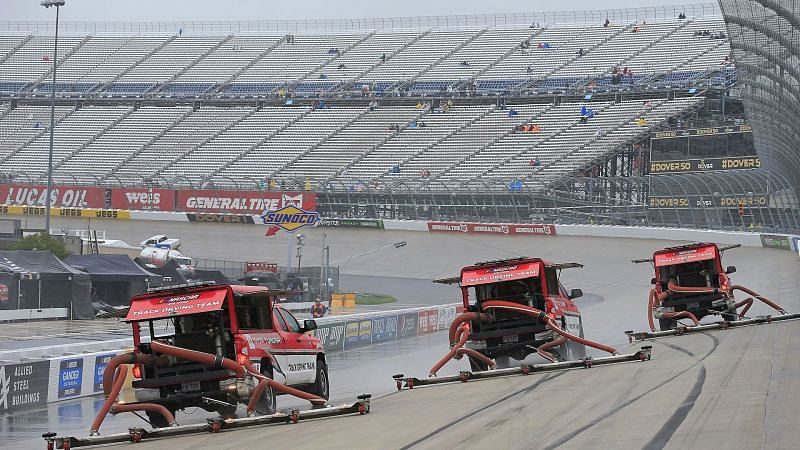 Rain delay at Dover International Speedway