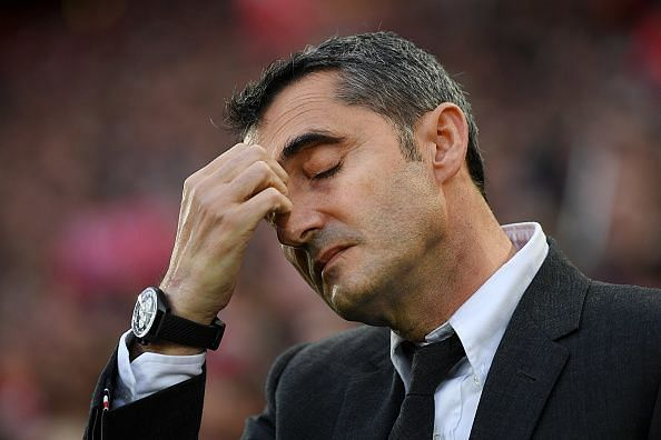 Could the pressure be getting to Ernesto Valverde?