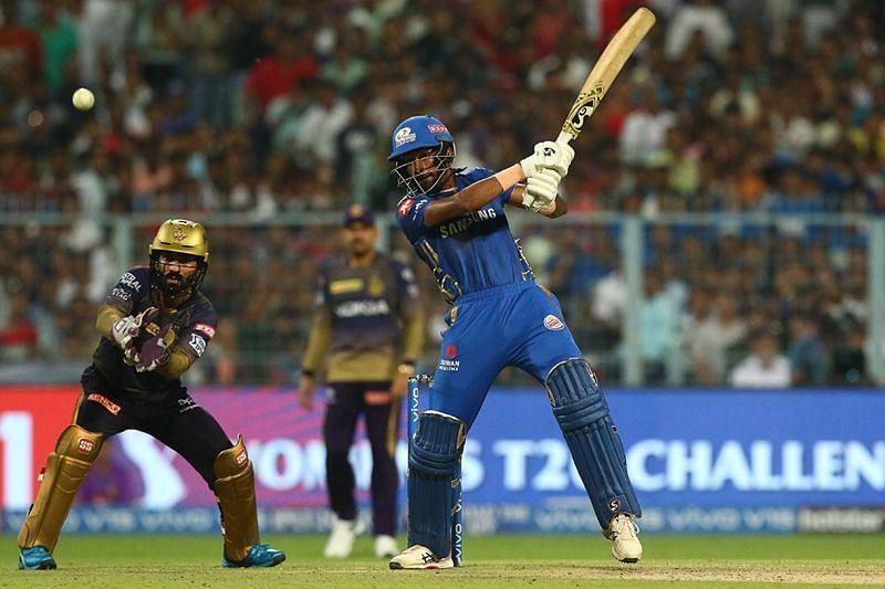 91 (34 balls) by Hardik Pandya against KKR