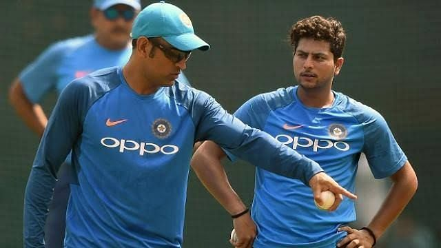 Kuldeep Yadav has often credited MS Dhoni for his success in ODIs. Courtesy: BCCI/Twitter