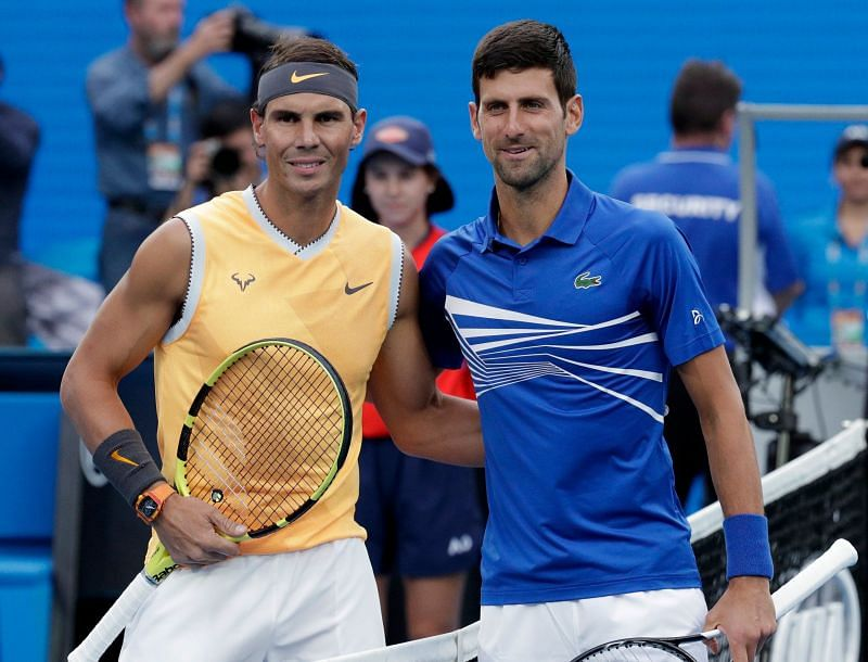 Rafael Nadal(Left) and Novak Djokovic(Right)