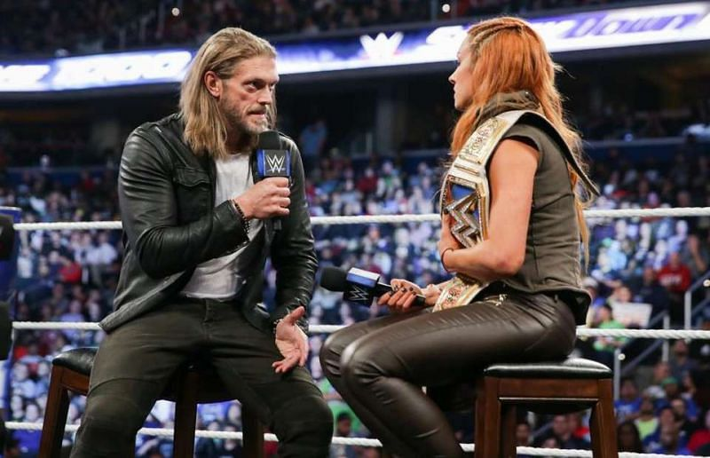 Edge and Becky Lynch