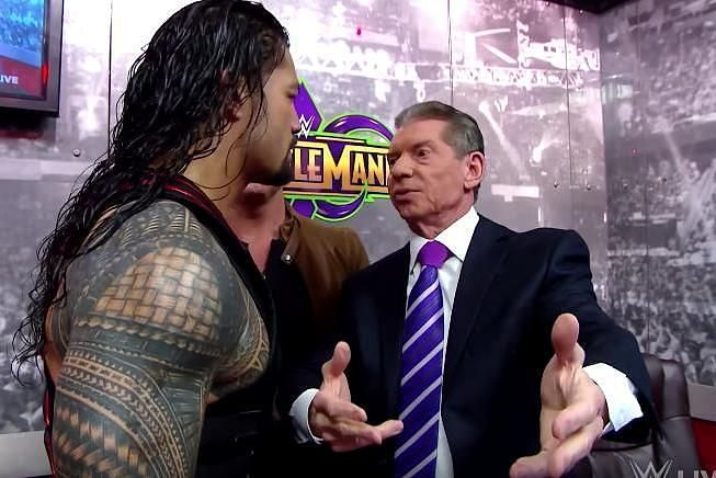 Roman Reigns and Vince backstage
