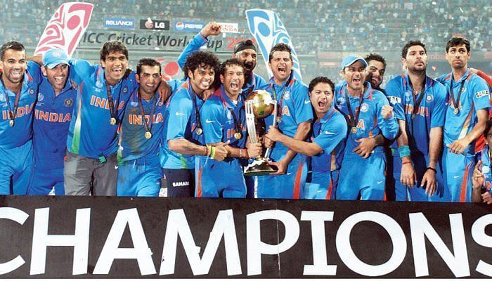 India emerged victorious in the 2011 Cricket World Cup.