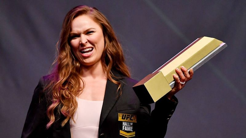 Ronda Rousey is the first-ever female UFC Hall of Fame inductee