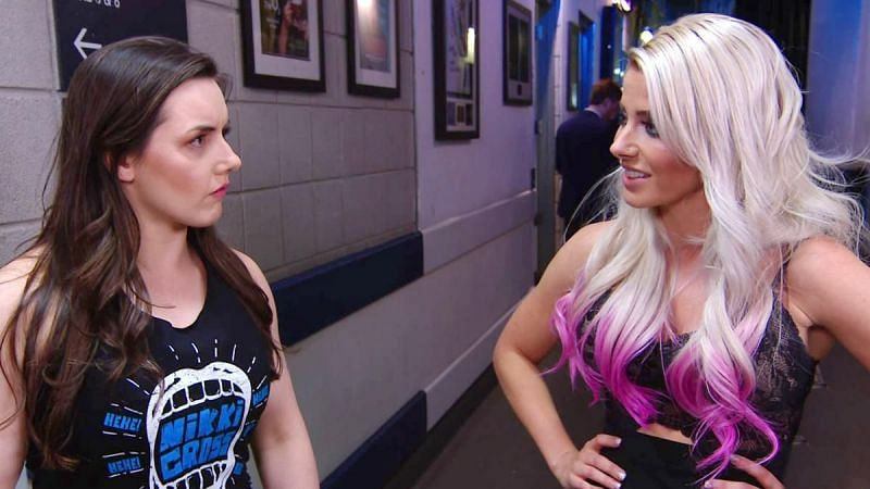 Nikki Cross replaced Alexa Bliss in the MITB ladder match