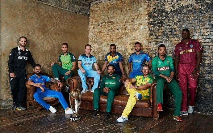Captains of all the teams participating in World Cup 2019