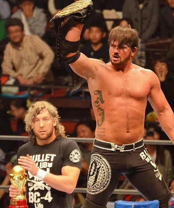 AJ Styles and Kenny Omega during their New Japan days