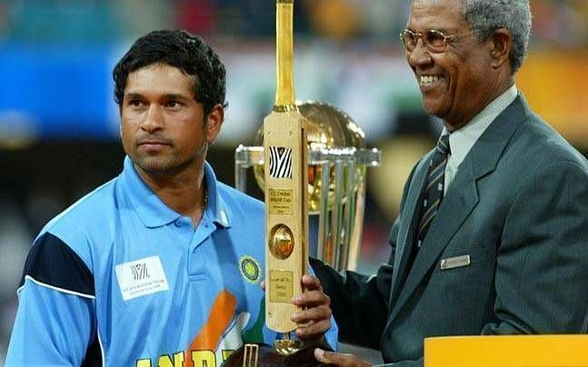 Tendulkar is the only batsman to score more than 2000 runs in World Cups