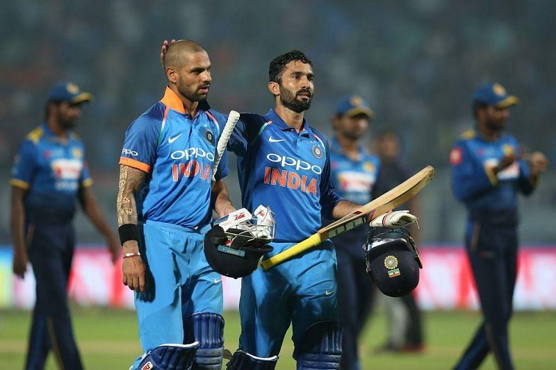 Dinesh karthik scored 2 centuries in ICC tournament