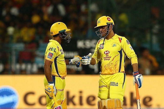 Ambati Rayudu and MS Dhoni (Image Courtesy: BCCI/IPLT20.COM)