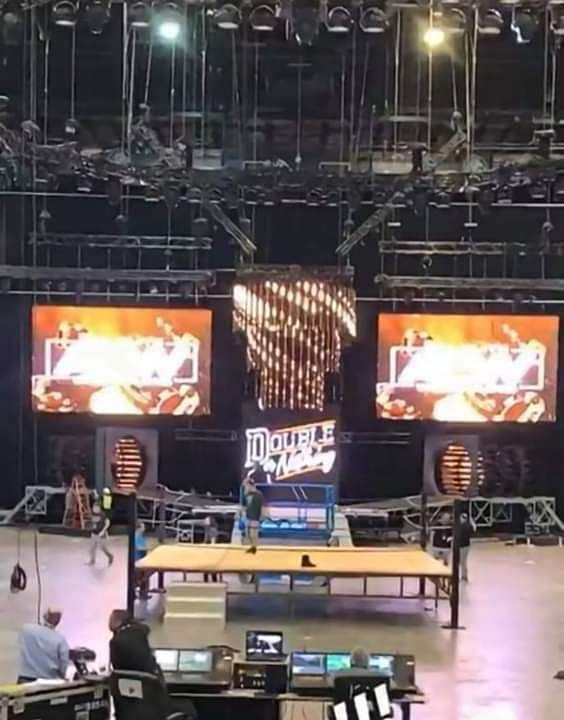 The Double Or Nothing entrance stage