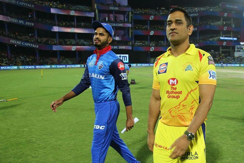 Shreyas Iyer and MS Dhoni (Image courtesy:iplt20.com)