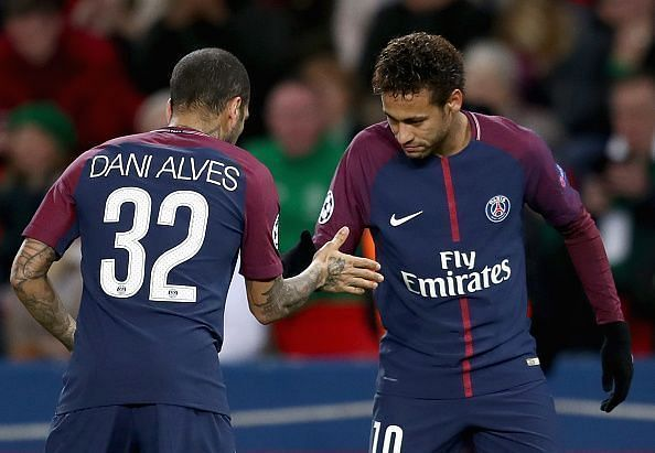 Neymar and Alves