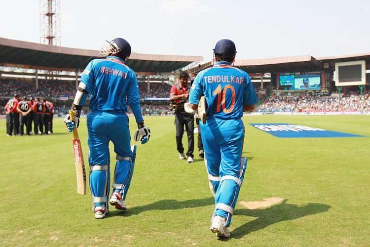 Sehwag And Sachin