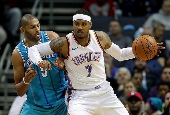 Melo spent the 17/18 season with the Oklahoma City Thunder