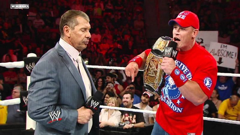 John Cena is yet to pin the Chairman of WWE, or make him tap out.