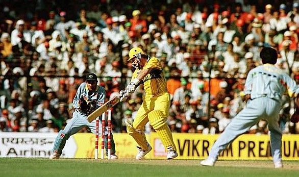Mark Waugh scored a splendid century to set up a win over India.