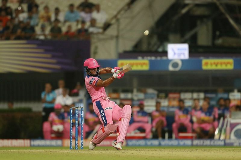 A majestic pull shot that was sent sailing over the ropes in his composed fifty versus the Delhi Capitals