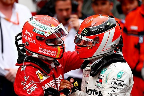 Sebastian Vettel and Lewis Hamilton have won 4 championships in the 2010s each.