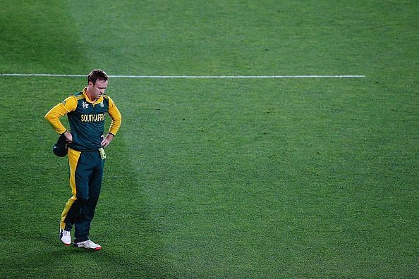 New Zealand v South Africa: Semi Final - AB De Villiers in distraught after a heart-breaking loss
