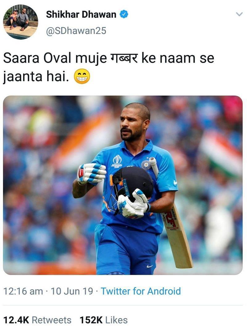 Indian Cricket Team - Shikar dhawan