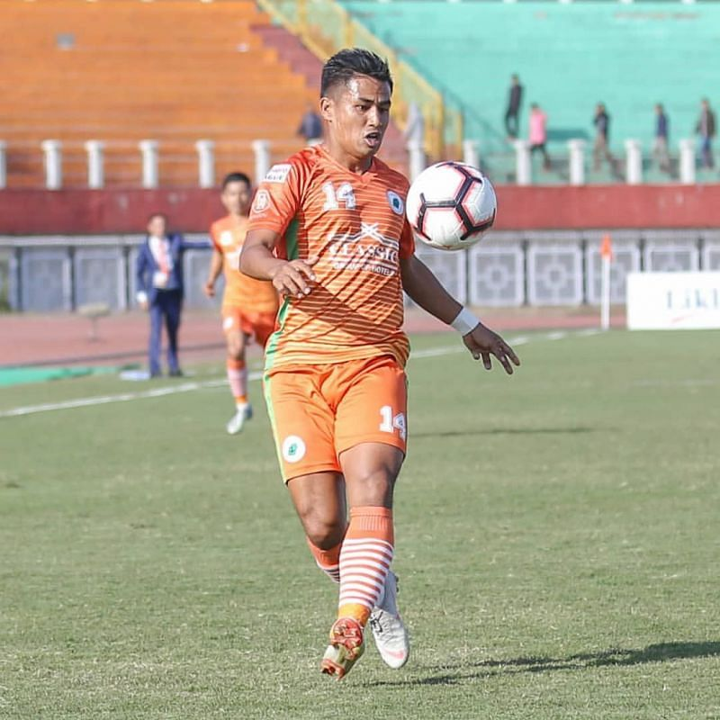 Malemngamba Meitei played for NEROCA FC in the 2018-19 I-League