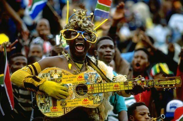 A South Africa fan