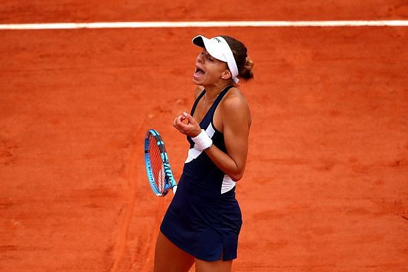 The unseeded Pole Magda Linette pushed Halep to her limit in their second round encounter