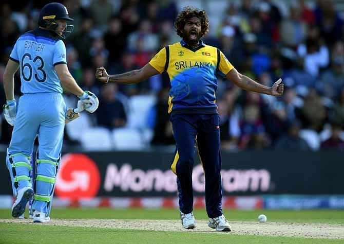Malinga takes 4 wickets against England