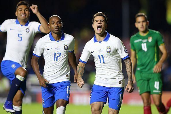 Philippe Coutinho celebrates
