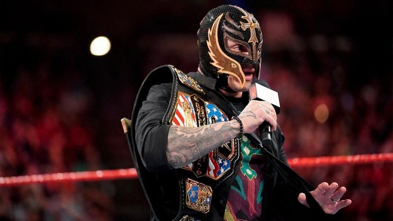 Rey Mysterio recently relinquished the United States title