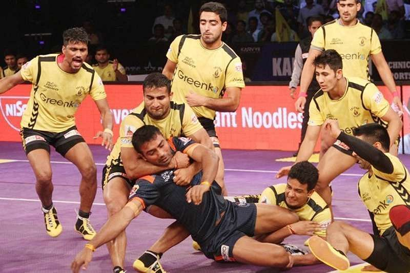 Sandeep Dhull and Sandeep Narwal were once a part of the Telugu Titans defense