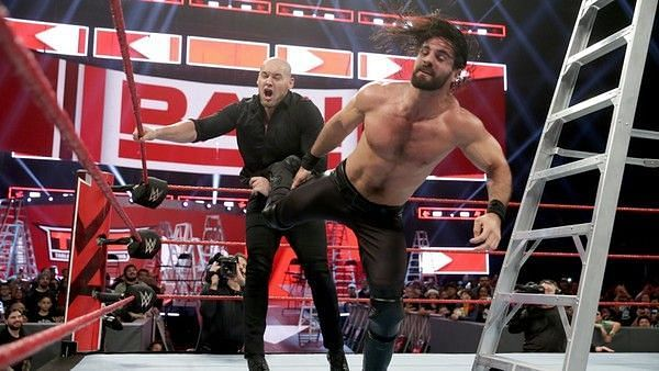Seth Rollins will defend his title once again against Baron Corbin at Stomping Grounds PPV