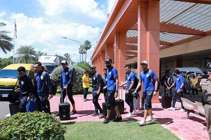 Indian Football Team arriving Thailand Sunil Chhetri
