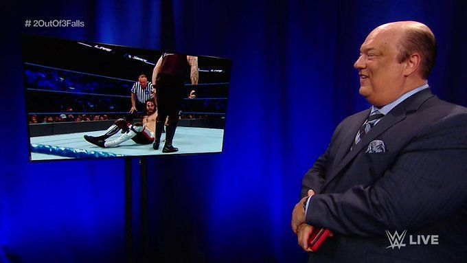 Paul Heyman surveys all the action happening on SmackDown Live