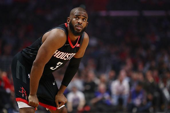 Chris Paul has spent two seasons in Houston, although the Rockets are keen to move his huge contract